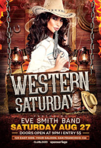 Western-Saturday-Flyer-Template-Awesomeflyer-com