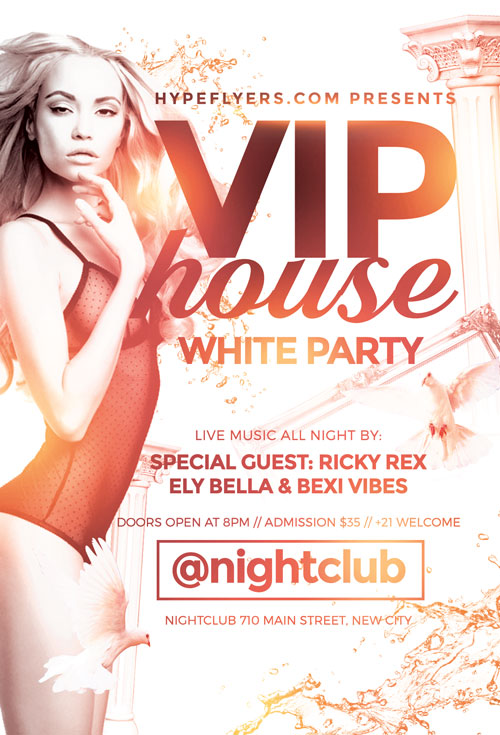 Download The White Party Flyer Template | Awesomeflyer.Com