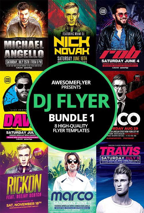 DJ Flyer Template Bundle 1 for Photoshop