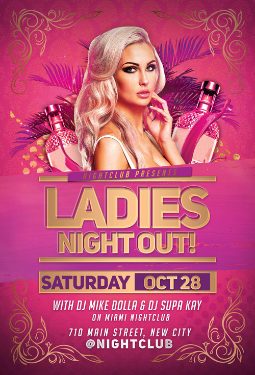 Ladies Night Out Party Flyer Template