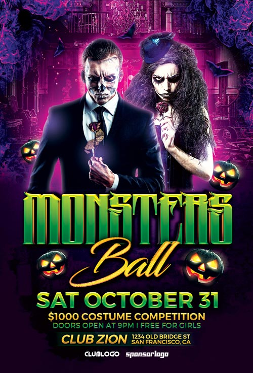 monsters-ball-flyer-template-awesomeflyer-com