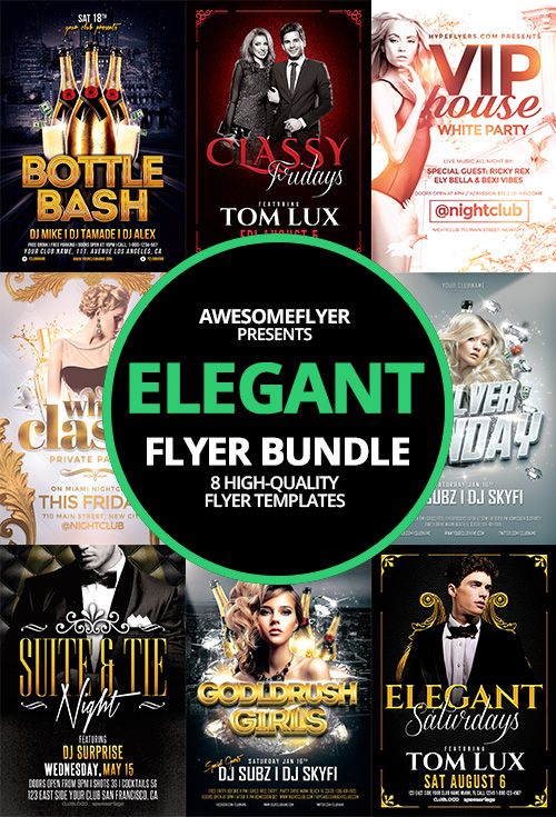 Elegant Classy Flyer Template Bundle