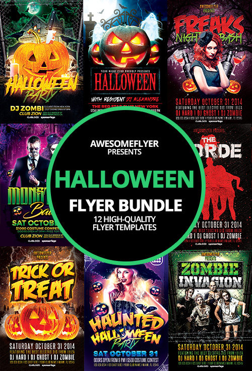 Halloween Flyer Template Bundle For Photoshop Awesomeflyer