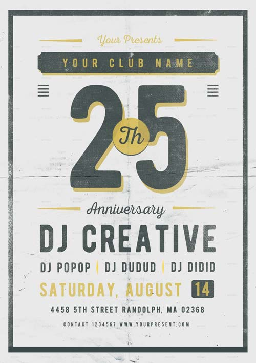 Best of anniversary flyer templates free and premium