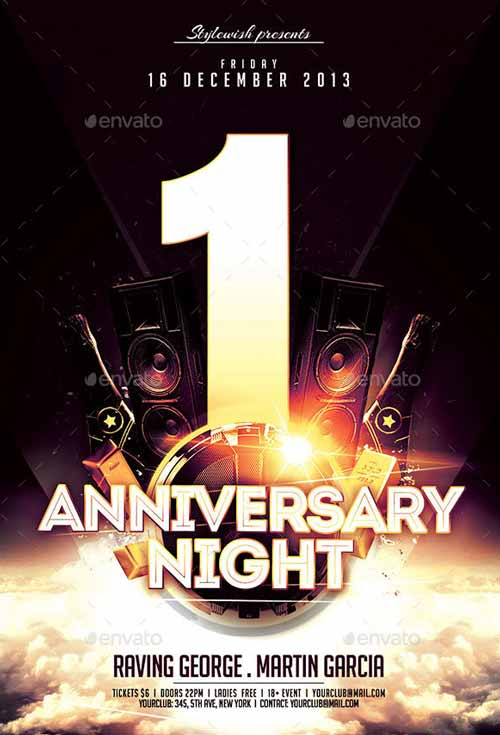 Anniversary Night Flyer Template