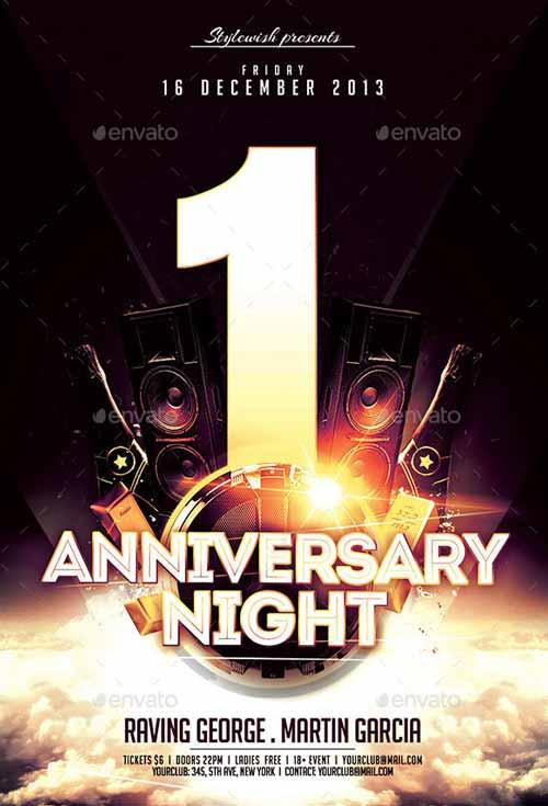Anniversary Night Flyer Template