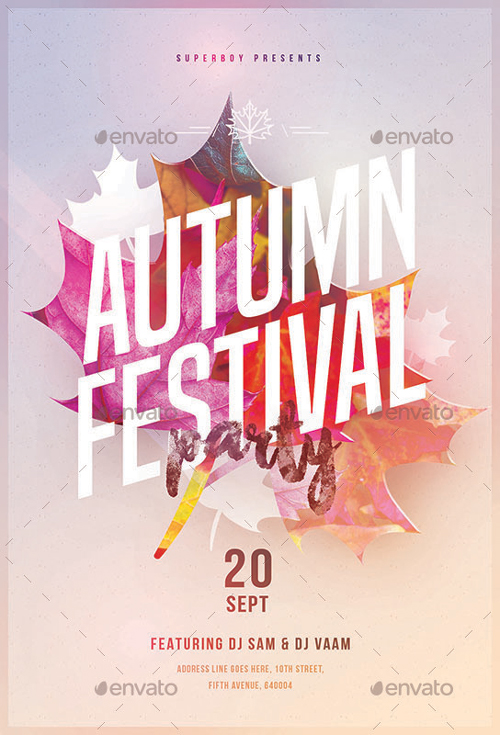 Autumn Festival Party Flyer