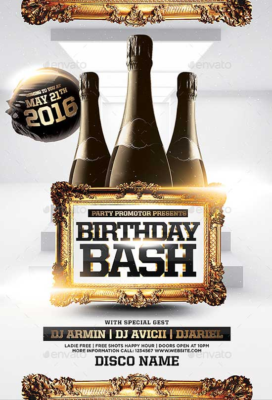 Birthday Bash Flyer Template for Photoshop