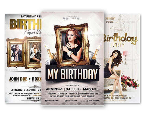 Best of Birthday Flyer Templates - Free and Premium Flyer
