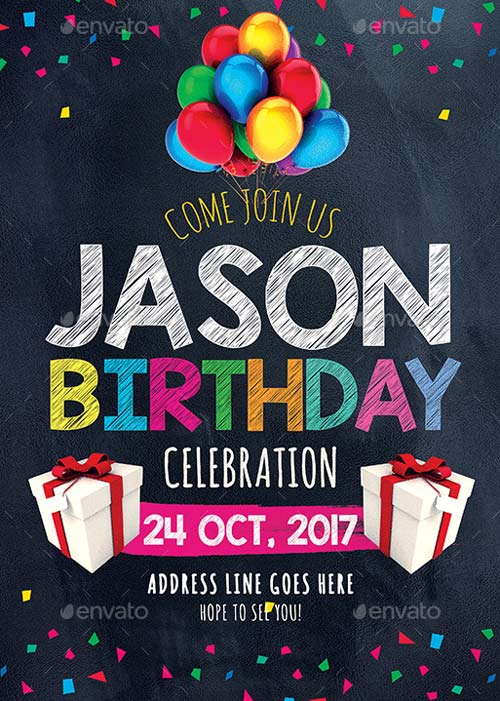Birthday Invitation Party Flyer