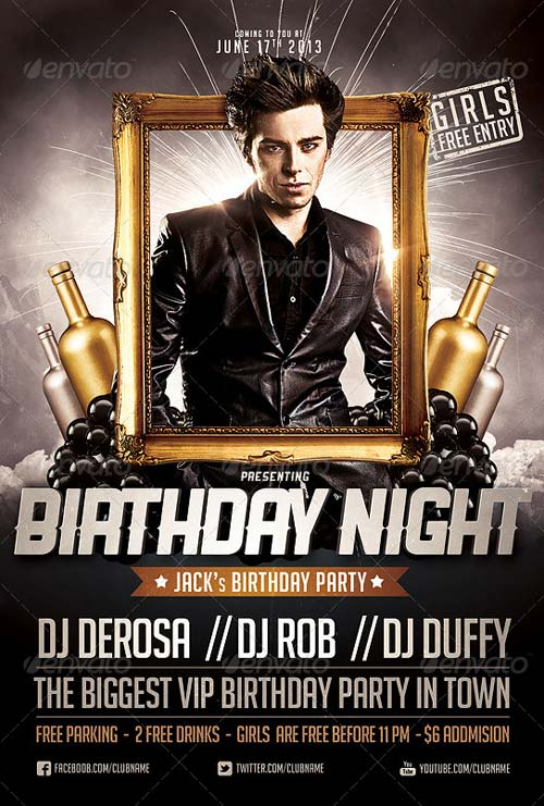 Birthday Night Flyer Template