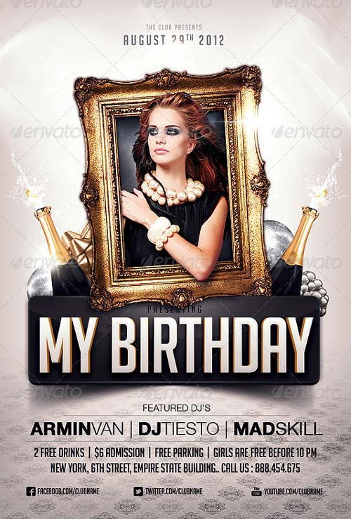 Birthday Flyer Template. Wanted Birthday Party Flyer Template ...