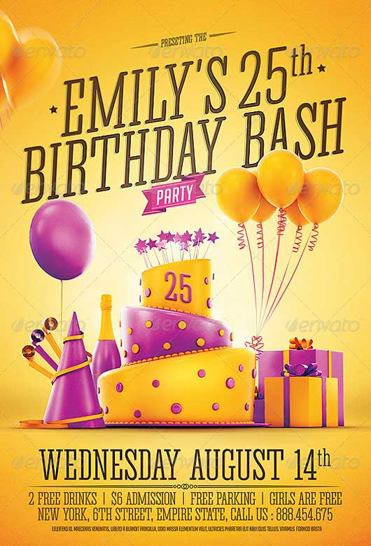 Best of Birthday Flyer Templates Free and Premium Flyer Collection – Birthday Invitation Flyer Template