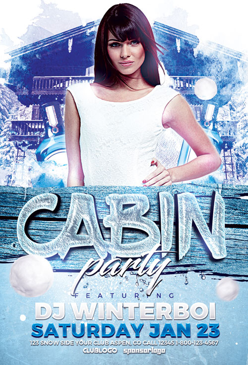 cabin-party-flyer-template-awesomeflyer-com