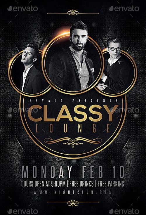 Classy Lounge Party Flyer Template