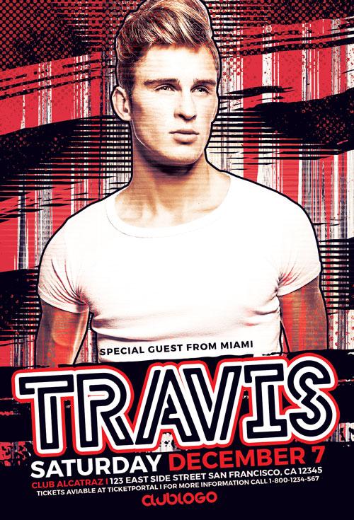 DJ Travis Flyer Template