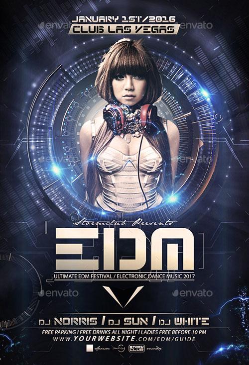 EDM DJ Flyer Template