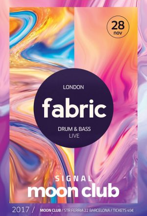 Electro Fabric Club Party Flyer and Poster Template