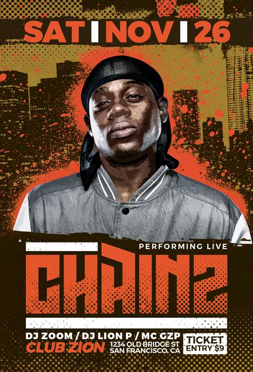 Hip Hop Event Flyer Template