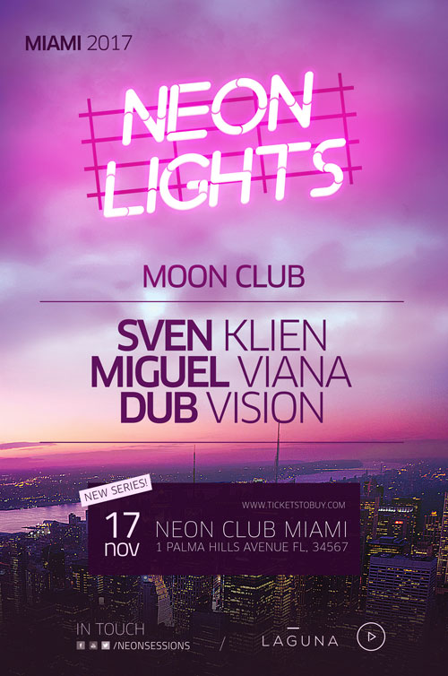Neon City Club Flyer And Poster Template  AwesomeflyerCom
