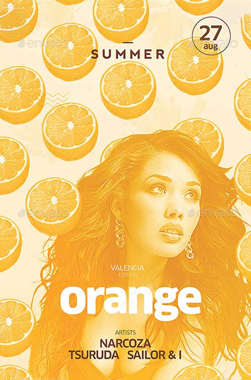 Orange Summer Flyer