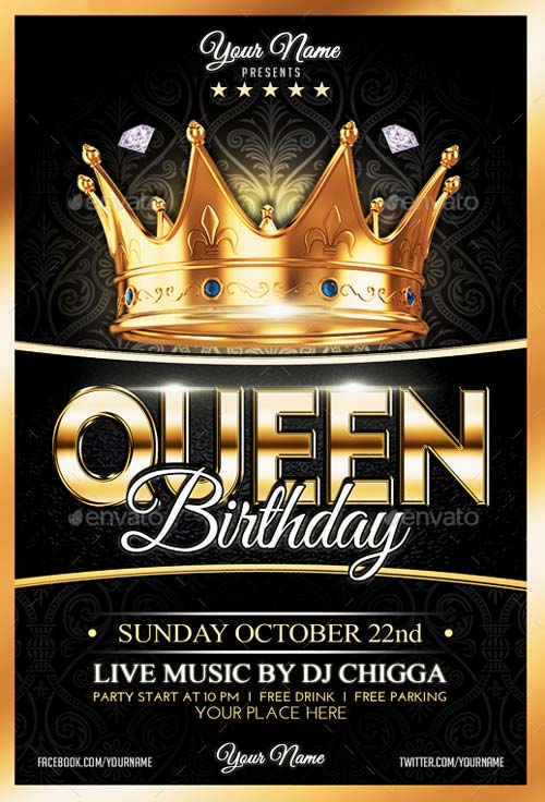 Queen Birthday Flyer