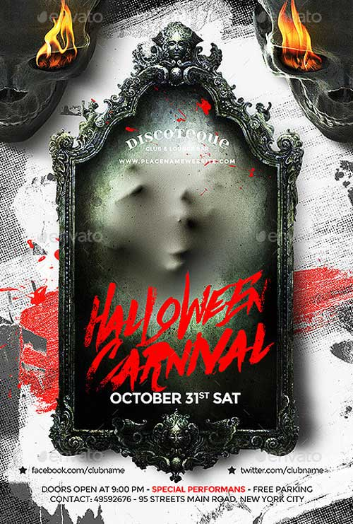 best of halloween flyer templates free and premium flyer collection