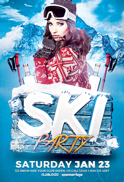 Download the Ski Party Flyer Template
