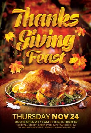 Thanksgiving Feast Flyer Template
