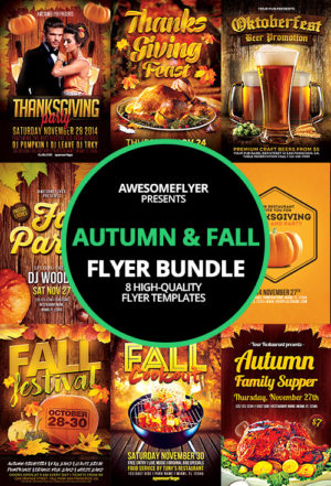 Autumn Fall Flyer Template Bundle