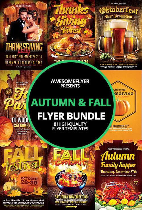 Autumn Fall Flyer Template Bundle