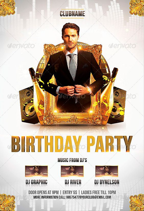 Happy Birthday Flyer Template Images Template Design Free Download