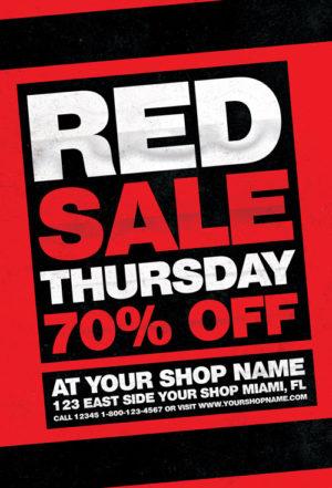 Red Thursday Flyer Template