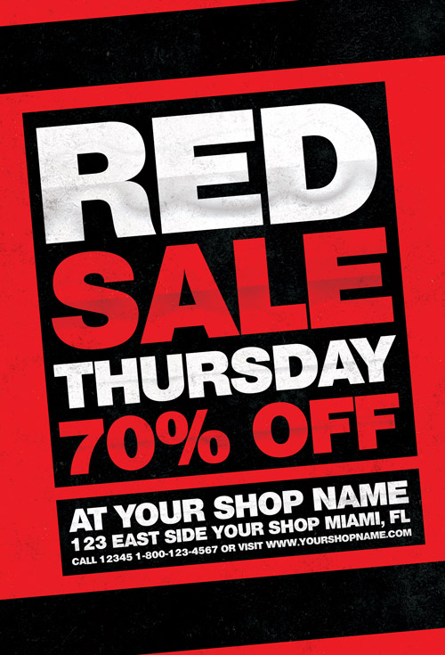 Red Thursday Flyer Template For Photoshop Awesomeflyer Com