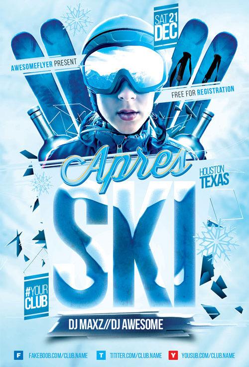 Apres Ski Event Flyer Template