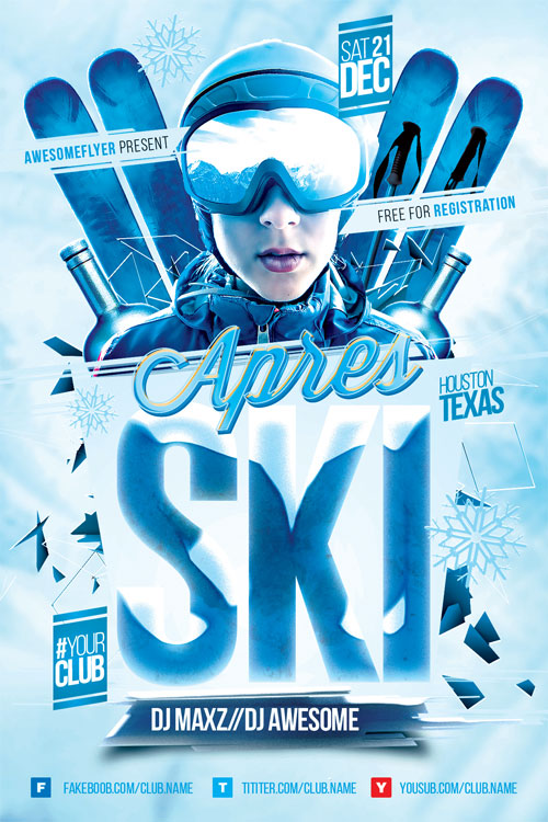 Apres Ski Event Flyer Template