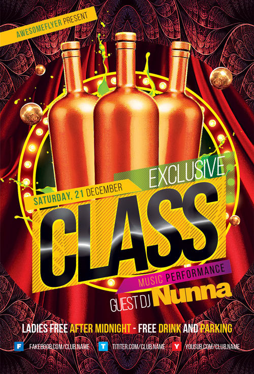 Exclusive Class Club Flyer Template