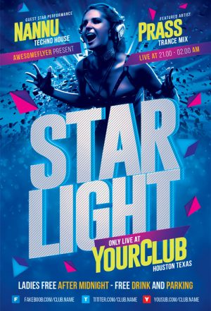 Starlight DJ Party Flyer Template