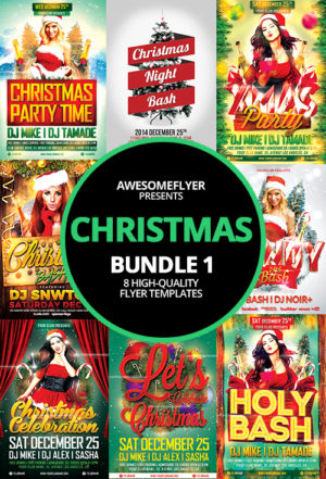 Christmas Flyer Template Bundle
