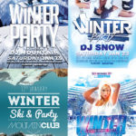 Winter Flyer Template Bundle