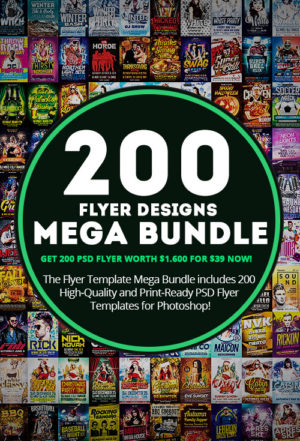 Download the 200 Flyer Templates Mega Bundle for Photoshop
