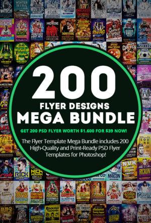Download the 200 Flyer Templates Mega Bundle for Photoshop