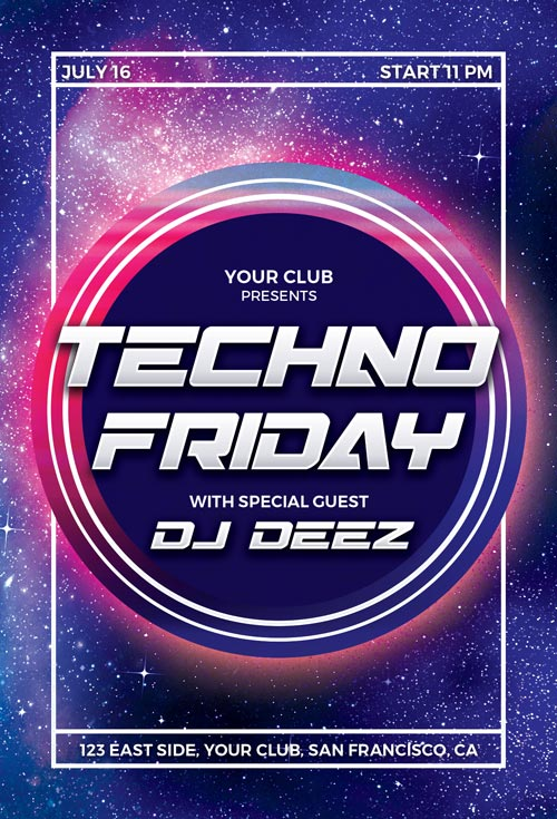 Techno-Party-Flyer-Template-Awesomeflyer-com