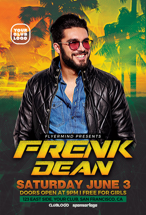 DJ Frank Flyer Template