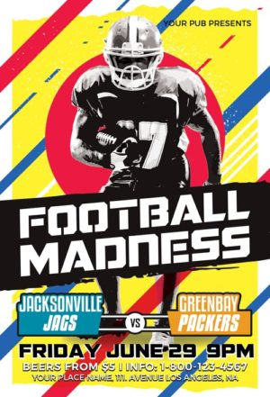 Football Madness Sport Flyer Template