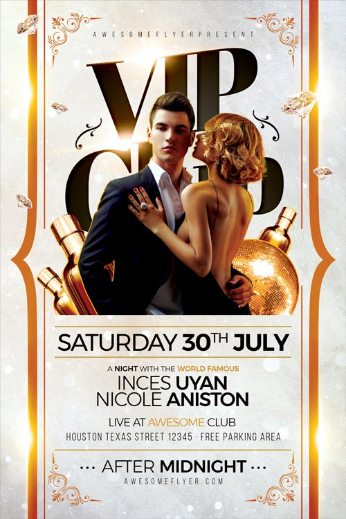 Vip Club Flyer Template Download Flyer For Elegant Classy Club Events