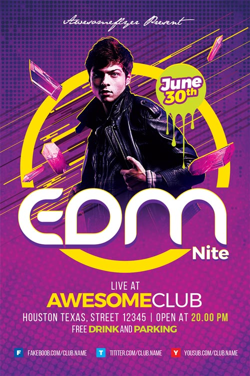 EDM-Flyer-Template-500-Awesomeflyer-com