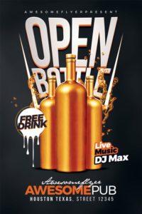 Open-Bottle-Flyer-Template-500-Awesomeflyer-com