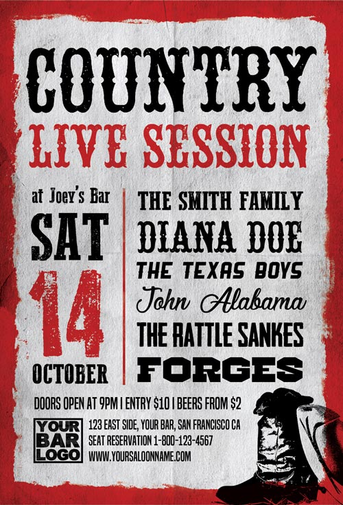 Country-Live-Session-Flyer-Template-Awesomeflyer-com