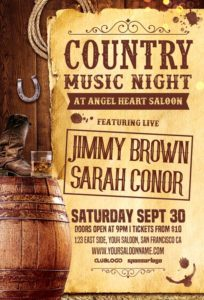 Country-Music-Night-Vol-2-Flyer-Template-Awesomeflyer-com